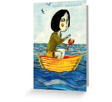 Lady in Boat Greeting Card