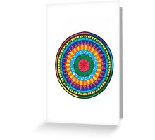 Colorful-Mandala Greeting Card