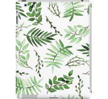 Watercolor Green Leaves iPad Case/Skin