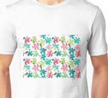 Watercolour Jigsaw Puzzle Pattern Unisex T-Shirt