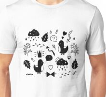 Birds. Sing about love. Unisex T-Shirt