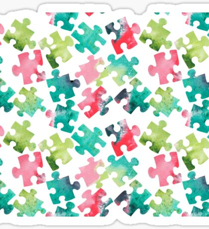 Watercolour Jigsaw Puzzle Pattern Sticker