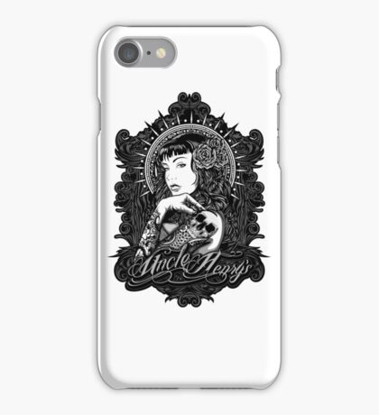 Lily Tattoo Sleeve Pin Up Design iPhone Case/Skin