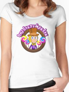 The Candy Man Can Women's Fitted Scoop T-Shirt