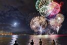 Spectacular Fireworks in Waikiki 2 by Alex Preiss