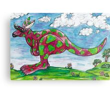 Prue the Pink Kangaroo Metal Print