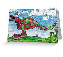 Prue the Pink Kangaroo Greeting Card