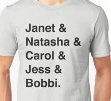 Avengers Ladies (Black) Unisex T-Shirt