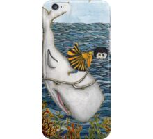 Girl Riding Whale iPhone Case/Skin