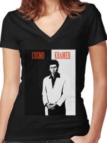 Cosmo Kramer Women's Fitted V-Neck T-Shirt