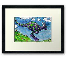 Priscilla the Purple Kangaroo Framed Print
