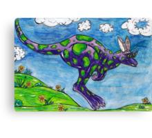 Priscilla the Purple Kangaroo Canvas Print