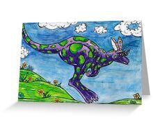 Priscilla the Purple Kangaroo Greeting Card