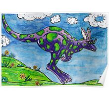 Priscilla the Purple Kangaroo Poster