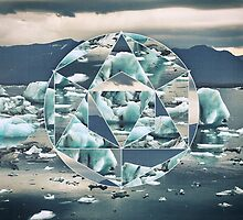 Geometric Icebergs Abstract by Phil Perkins