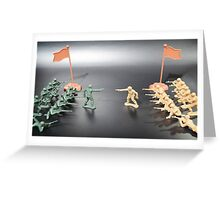 Nation vs Nation plastic soldiers Greeting Card