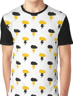 Yellow and Black Thunderclouds pattern Graphic T-Shirt