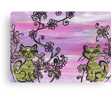 Two Cutie Kittens Canvas Print