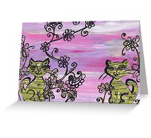 Two Cutie Kittens Greeting Card