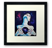 Space heart Framed Print