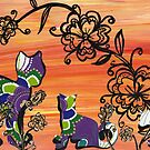 Purple Cats by kewzoo