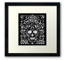 Big Trouble festival skull Framed Print