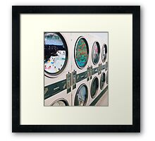 Time washing machine Framed Print