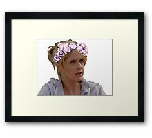 Buffy Summers - Flower Crown Framed Print
