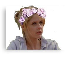 Buffy Summers - Flower Crown Canvas Print
