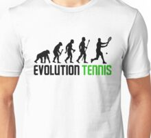Evolution Of Man And Tennis Unisex T-Shirt