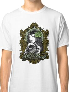 Lily Tattoo Sleeve Pin Up Design Classic T-Shirt