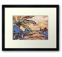 Oasis Camels Framed Print