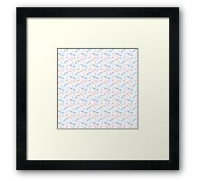 Koi and Swallow Pattern Framed Print