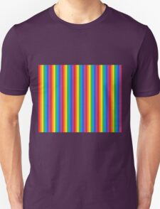 Frosted Vertical Rainbow   Unisex T-Shirt