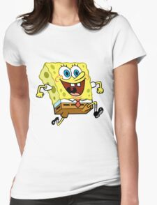 Sponge Bob Womens Fitted T-Shirt