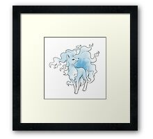 Ninetales (Ice/Fairy) Framed Print