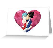 vegeta bulma, vegebul heart   Greeting Card