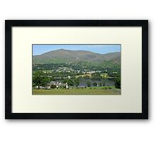 Bank Ground Farm (Holly Howe), Coniston Water & Coniston Old Man, Lake District National Park, Cumbria, UK Framed Print