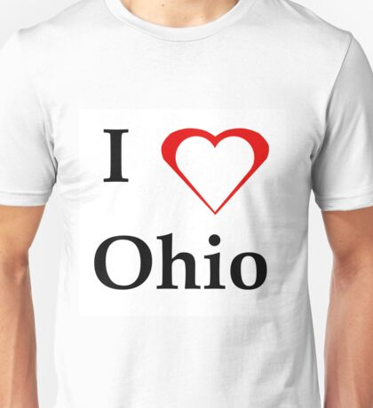 I Love Ohio Unisex T-Shirt