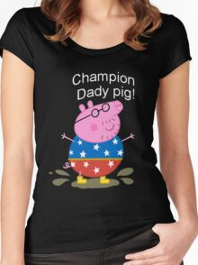 Champion Daddy  Women's Fitted Scoop T-Shirt