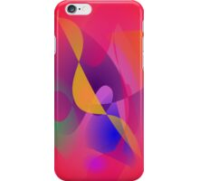 Simple Red Abstract Painting iPhone Case/Skin