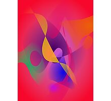 Simple Red Abstract Painting Photographic Print