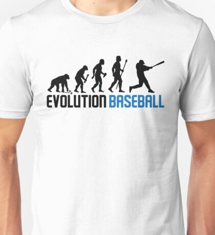 Baseball Evolution Of Man Unisex T-Shirt