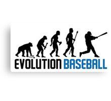 Baseball Evolution Of Man Canvas Print