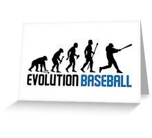Baseball Evolution Of Man Greeting Card