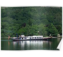 Steam Yacht Gondola, Coniston Water, Lake District National Park, Cumbria, UK Poster