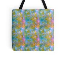 Pink and blue in my green. Tote Bag