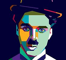 "WPAP - ""Charlie Chaplin"" by hwart"
