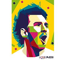 "WPAP - ""Lionel Messi"" Photographic Print"