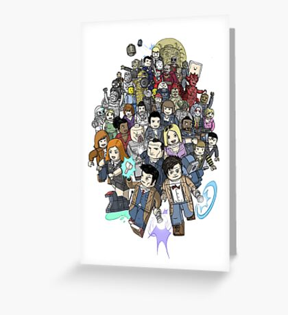DOCTOR WHOZZAT? BLOCKY Greeting Card